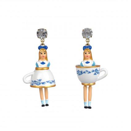 Boucles D'oreilles Boucles D'oreille Alice Dans Sa Jupe Tasse De Thé