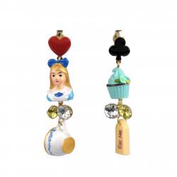 Boucles D'oreilles Boucles D'oreilles À Clip Pendantes Alice Et Cupcake