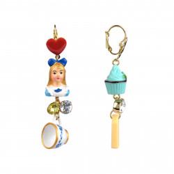 Boucles D'oreilles Boucles D'oreilles Dormeuses Pendantes Alice Et Cupcake