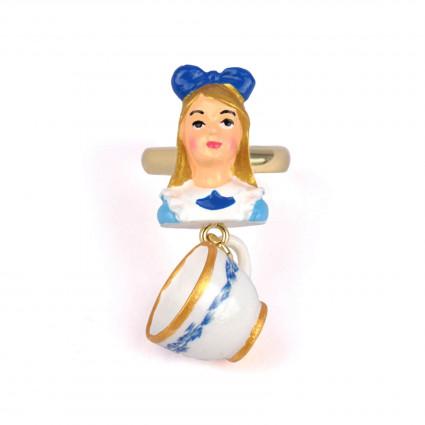 Bagues Bague Alice Et Tasse De Thé