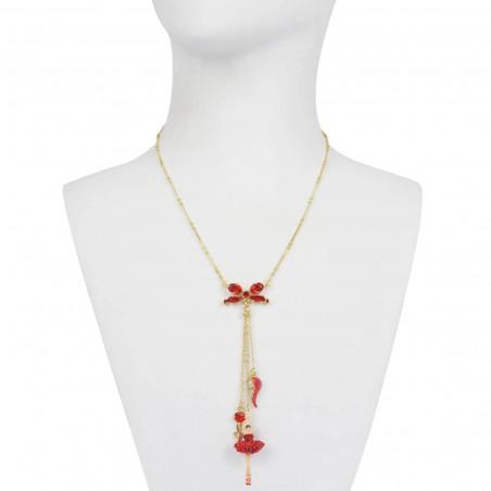 Ballerina on point pendant necklace