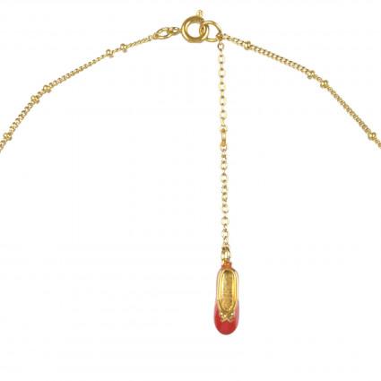 Collier pendentif ballerine sur pointe Rouge