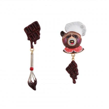 Boucles D'oreilles Boucles D'oreilles Odile L'ourse Chef Patissière