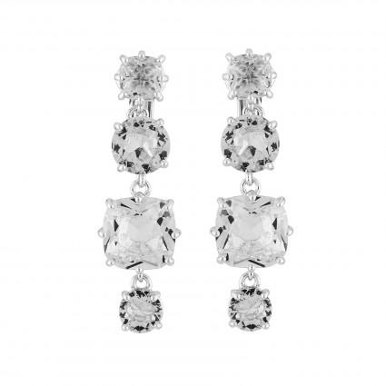 Boucles D'oreilles Clip Boucles D'oreilles Clip 4 Pierres La Diamantine Silver Cristal80,00€ AILD120C/3Les Néréides