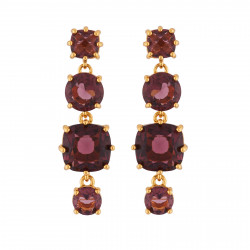 4 Plum Stones Earrings