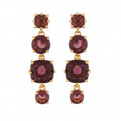 4 Plum Stones Earrings