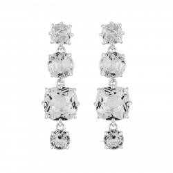 4 Silver Crystal Stones...