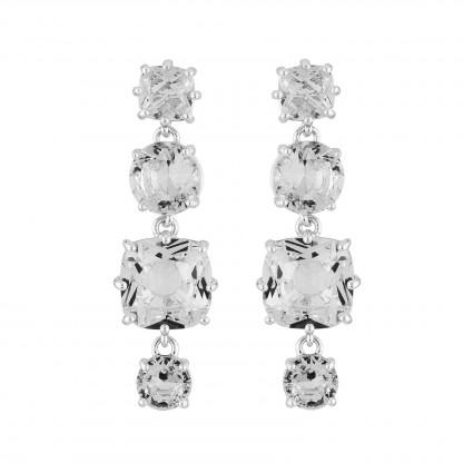 Boucles D'oreilles Pendantes Boucles D'oreilles Tiges 4 Pierres La Diamantine Silver Cristal80,00€ AILD120T/3Les Néréides