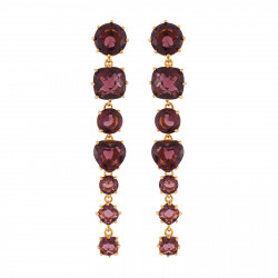 7 Plum Stones Earrings