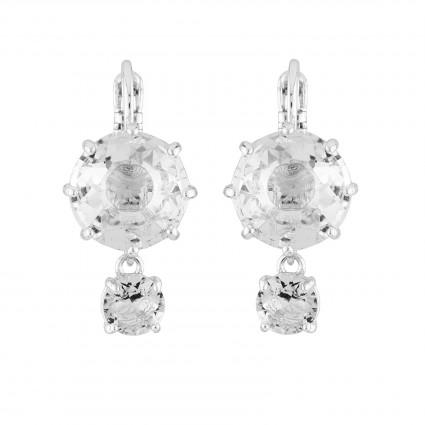 Boucles D'oreilles Dormeuses Boucles D'oreilles Dormeuses 2 Pierres Rondes La Diamantine Silver Cristal60,00€ AILD126D/3Les ...