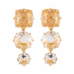 Boucles D'oreilles Clip Boucles D'oreilles Clip 3 Pierres La Diamantine Cristal100,00€ AILD136C/2Les Néréides