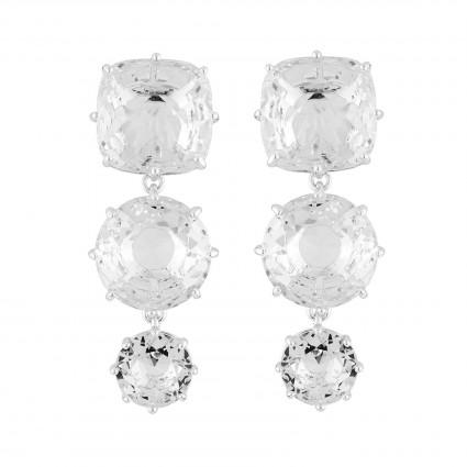 Boucles D'oreilles Pendantes Boucles D'oreilles Tiges 3 Pierres La Diamantine Silver Cristal100,00€ AILD136T/3Les Néréides