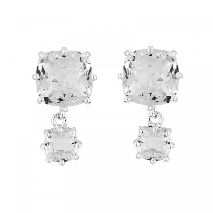 Boucles D'oreilles Pendantes Boucles D'oreilles Tiges 2 Pierres Carrées La Diamantine Silver Cristal60,00€ AILD138T/3Les Nér...