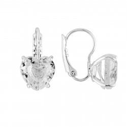 Boucles D'oreilles Dormeuses Dormeuses Petite Pierre Cœur Silver Cristal50,00€ AILD145D/3Les Néréides