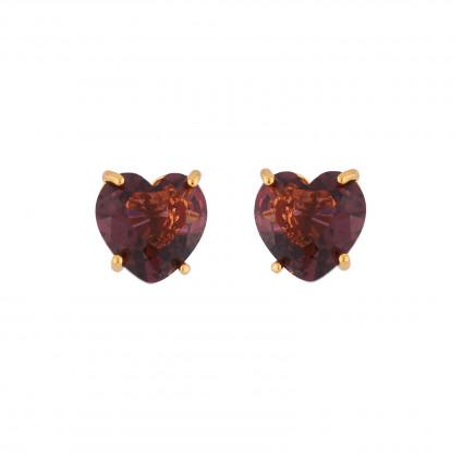 Boucles D'oreilles Tiges Boucles D'oreilles Petite Pierre Cœur Prune50,00€ AILD145T/1Les Néréides