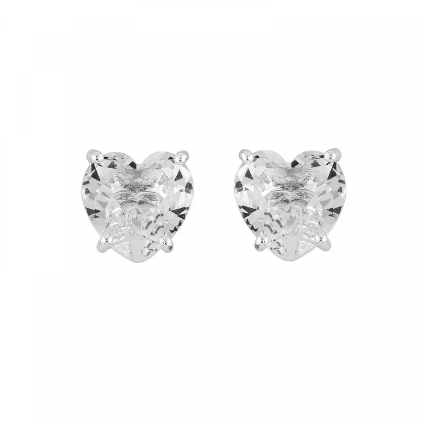 Boucles D'oreilles Tiges Boucles D'oreilles Tiges Pierre Cœur La Diamantine Silver Cristal50,00€ AILD145T/3Les Néréides