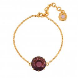 Plum Round Stone Bracelet