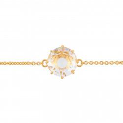 Bracelets Fins Bracelet Pierre Ronde Cristal