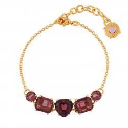 Bracelets Fins Bracelet 5 Pierres Prune