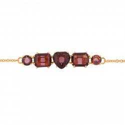 Bracelets Fins Bracelet 5 Pierres Prune80,00€ AILD214/1Les Néréides