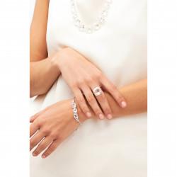 Bracelets Fins Bracelet 5 Pierres Silver Cristal