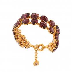 Bracelets Charms Bracelet Luxe Deux Rangs Prune