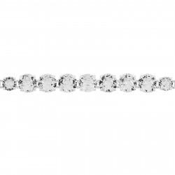 Bracelets Fins Bracelet Luxe Un Rang Silver Cristal