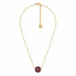 Round Plum Stone Necklace