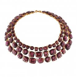 De Luxe 3 Rows Plum Necklace