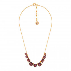 9 Plum Stones Necklace