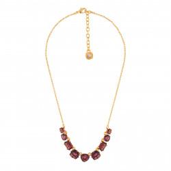 9 Plum Stones Necklace