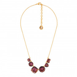 6 Plum Stones Necklace