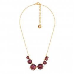 6 Plum Stones Necklace