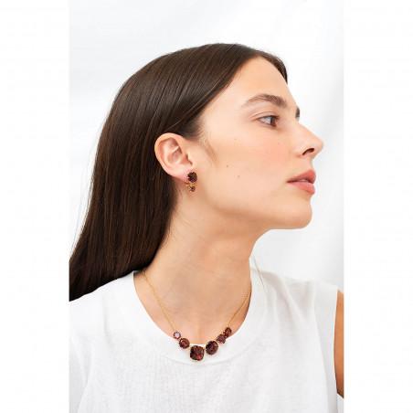 La Diamantine earrings faceted glass