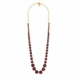 Long Plum Necklace With...