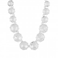 Colliers Sautoirs Collier Sautoir Pierres Rondes Et Chaîne La Diamantine Silver Cristal350,00€ AILD351/3Les Néréides