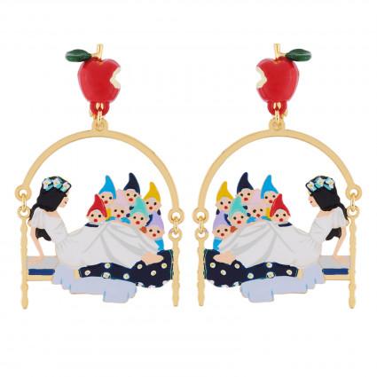 Boucles D'oreilles Originales Boucles D'oreilles Clip 7 Nains Au Chevet De Blanche Neige70,00€ AHBN101C/1N2 by Les Néréides