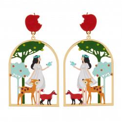 Boucles D'oreilles Boucles D'oreilles Blanche Neige Et Ses Amis Les Animaux Dans Les Bois60,00€ AHBN105T/1N2 by Les Néréides