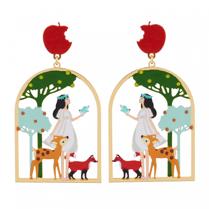 Boucles D'oreilles Originales Boucles D'oreilles Blanche Neige Et Ses Amis Les Animaux Dans Les Bois60,00€ AHBN105T/1N2 by L...