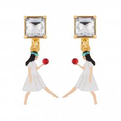 Snow White Clip-on Earrings