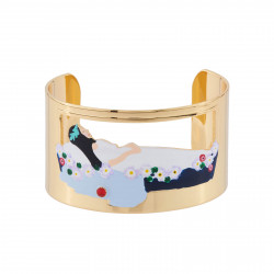 Bracelets Originaux Bracelet Manchette Blanche Neige Endormie Dans Son Cercueil De Verre70,00€ AHBN202/1N2 by Les Néréides