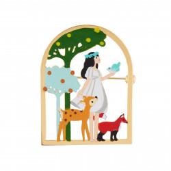 Accessoires Broche Blanche Neige Et Ses Amis Les Animaux Dans Les Bois
