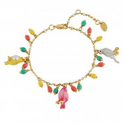 Bracelets Charms Bracelet Trio De Canaris Et Multi Pampilles