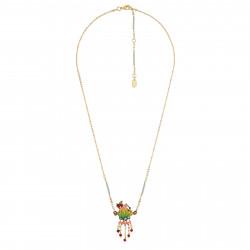 Colliers Pendentifs Collier Canari Rose Sur Sa Branche En Feuille Et Pampilles Chaînes Et Perles95,00€ AHCA308/1Les Néréides