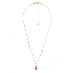 Small Coral Canary Necklace