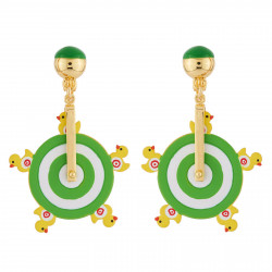 Duck Shooting Clip On Earrings