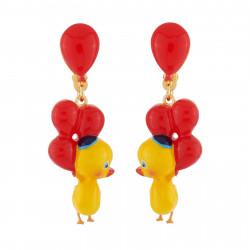 Boucles D'oreilles Originales Boucles D'oreilles Clip Petit Canard Et Ballons Rouges50,00€ AHJL107C/1N2 by Les Néréides