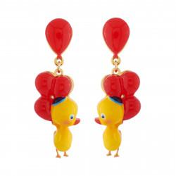 Boucles D'oreilles Boucles D'oreilles Petit Canard Et Ballons Rouges