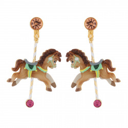 Boucles D'oreilles Boucles D'oreilles Clip Petit Cheval De Carrousel