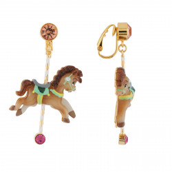 Boucles D'oreilles Originales Boucles D'oreilles Clip Petit Cheval De Carrousel70,00€ AHJL113C/1N2 by Les Néréides